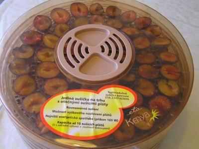 Sušenie sliviek na elektrickej sušičke