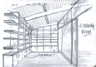 Obrázok 2: Architektonický návrh sa vždy začína skicovaním